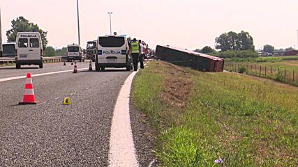 Croatia: 10 killed, 44 injured as bus swerves off road in Slavonski Brod