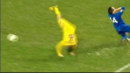 Украйнски футболист показва кунг-фу умения