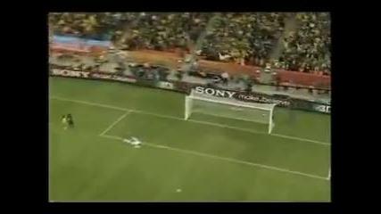 Първия гол на Световното през 2010