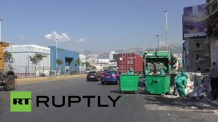 Lebanon: Rubbish removal resumes in Beirut after waste workers suspend strike