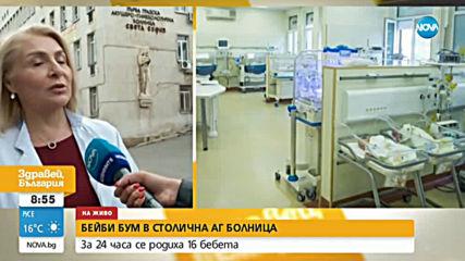 8 момченца и 8 момиченца проплакаха в столичната Първа АГ болница за едно денонощие