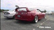 Supra 1400whp Launch Control! Flames!