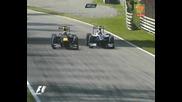 Уебър срещо Хюлкенберг Гран при на Италия 2010