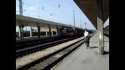 двоино влизане в централна гара Пловдив на товарни композиции...