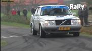 Volvo 240 Turbo brick shooting flames - Great sound