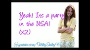 Miley Cyrus - Party In The Usa ( lyrics)