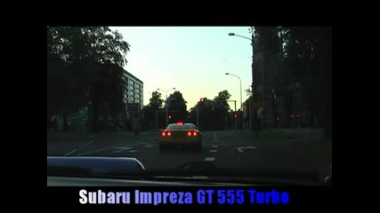 Corvette C4 vs Impreza gt 555 turbo
