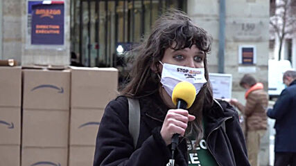 France: Activists protest government policies seen as pro-Amazon