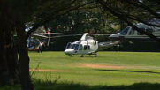 UK: Draghi, Macron leave in helicopters after final day of G7 summit