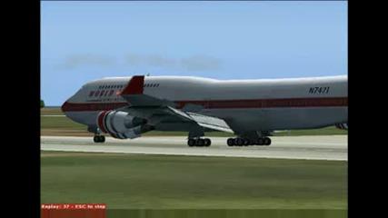 Летище Бургас, Boeing 747 И Manowar