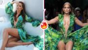 Коя я носи по-добре: Галена облече култовата зелена рокля Versace на Джей Ло