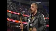Brock Lesnar напълни гащите като видя чука на Triple H - Wwe Raw 18/3/13