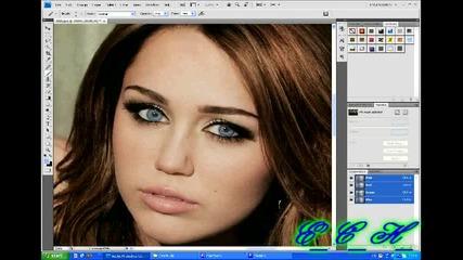 Фотошоп - сини очи[miley]
