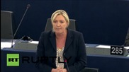"France: Euro and austerity are ""siamese twins"" - Marine Le Pen"