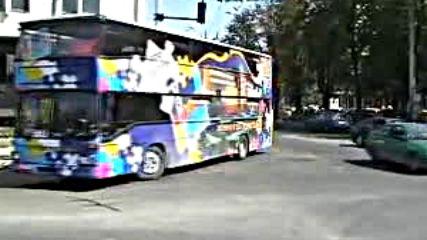 Varna Bulgarien- Der ehemalige Bvg-doppeldecker 3878 am Bahnhof von Varnavia torchbrowser.com