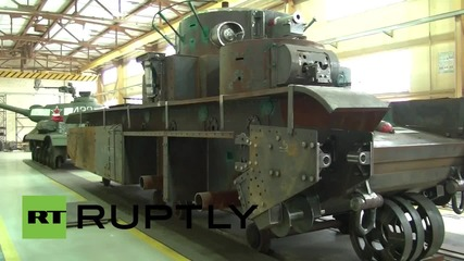 Russia: WII military hardware made brand new at unique Red Army repair shop