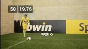 Man Utd - David de Gea in bwin s Corner Kick Challenge