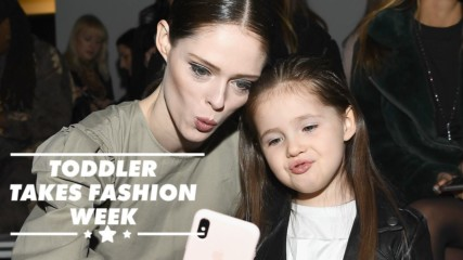 Coco Rocha's little girl is a NYFW frow star