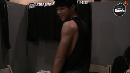 [bangtan Bomb] Jimin's see-through sleeveless shirt