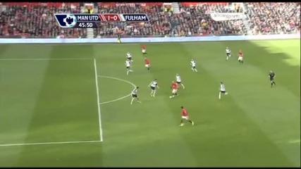 [hq]14.03 Манчестър Юнайтед 3:0 Фулъм Уейн Рууни гол