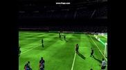 Fifa 09 - Феноменален бразилски гол от воле на S. Eto