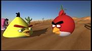 Angry Birds срещу Worms 3d анимация