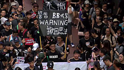 Hong Kong: Protesters rally in Hong Kong despite extradition bill suspension