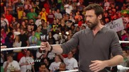 Raw guest star Hugh Jackman is confronted by Magneto: Raw, April 28, 2014
