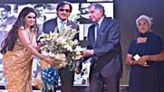 Ratan Tata, Shabana Azmi, Sooraj Barjatya and Athiya Shetty at Dadasaheb Phalke Excellence Awards