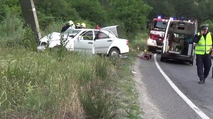 """Почина раненият в катастрофа на Е-79, втори загина край ГКПП """"Кулата"""""""