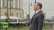 Russia: PM Medvedev marks founding of St. Petersburg