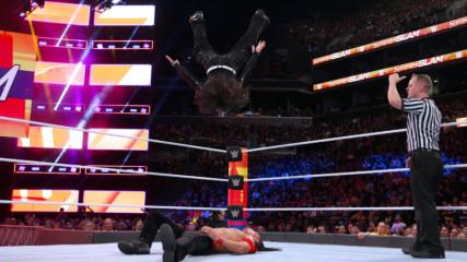 Jeff Hardy blasts Shinsuke Nakamura with a Swanton Bomb: SummerSlam 2018 (WWE Network Exclusive)
