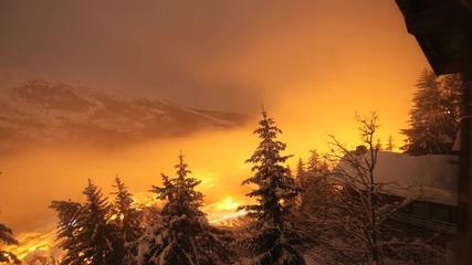 Алпите през нощта