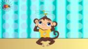 Пет Маймунки - Детска Песен бг аудио Hd