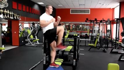 Фитнес упражнения - Стъпки нагоре с повдигане на коляното