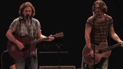 Eddie Vedder & Johnny Depp -society (live 2010)