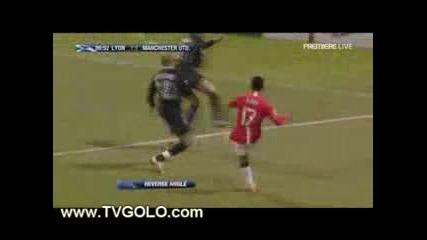 Lyon Vs Manchester Utd 1 - 1 Tevez Goal