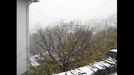 Първи сняг в Смолян 2010г.
