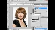 Меняем цвет волос в Photoshop Cs5_ Из брюнетки в блондинку
