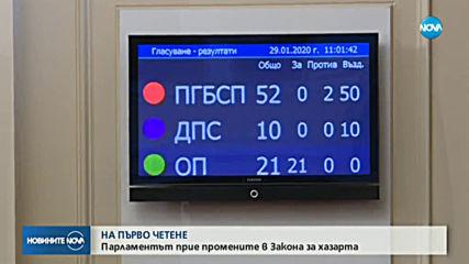 НА ПЪРВО ЧЕТЕНЕ: Депутатите приеха промените в Закона за хазарта (ВИДЕО)