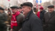 Russia: Thousands of communists parade on October Revolution's 99th anniversary