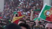 Portugal: Fans watch Portugal-Spain match on big screen in Lisbon