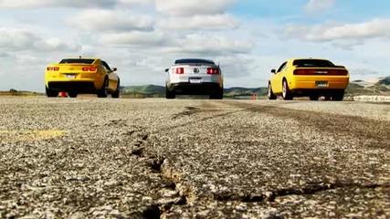 Drag Race!mustang Gt vs Camaro Ss vs Dodge Challenger Srt8