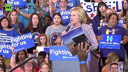 Clinton Predicts 'Contentious Campaign' Against Donald Trump