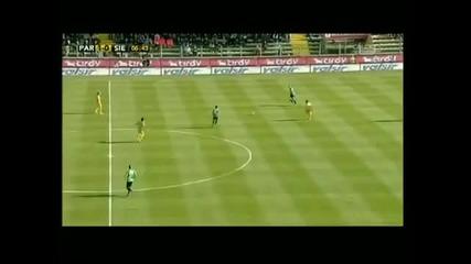 Parma - Siena Bojinov goal 1 - 0