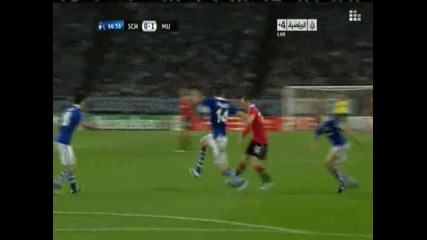 26.04.2011 - Шампионска лига - Шалке 04 0-1 Манчестър Юнайтед гол на Райън Гигс