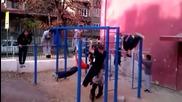Откриване на площадка в 119-то - Street Workout