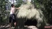 Как се прави колиба от трева