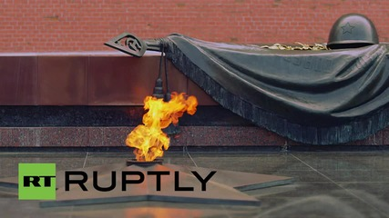 Russia: Victorious Red Army commemorated with minute of silence