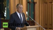 Russia: Lavrov and UN Envoy to Syria de Mistura talk conflict resolution
